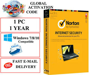 Norton İnternet Security 1 Year 1 PC (Windows) Global Activation Code