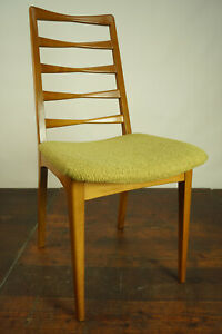60er Retro Dining Room Chair Sprossenstuhl Chair Vintage Mid Century Danish 60s