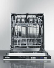 "NEW, Cosmetically Dented (see pics),SUMMIT DW2433SS2ADA Built In Dishwasher 24""w"