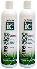 2x Fantasia IC Pure NATURAL Aloe Vera Shampoo Replenishes Moisture Damaged Hair