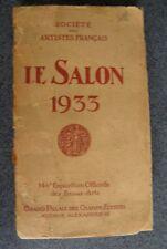 1933 Salon Catalogue Exposition  Beaux-Arts