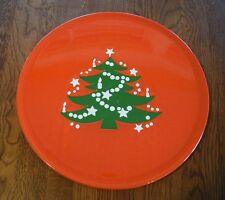 Waechtersbach Serving Platter Plate Red Christmas Tree Holiday Western Germany