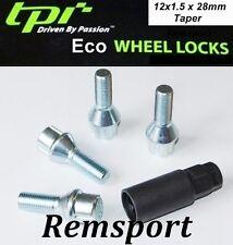 TPI Eco 12x1.5 Mm Rueda de la aleación pernos de bloqueo para adaptarse a Bmw Serie 3 E30 E36 E46 E90