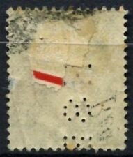 Hong Kong 1903 SG#86 $1 Púrpura y Verde Salvia-KEVII MH Perfin #D62954