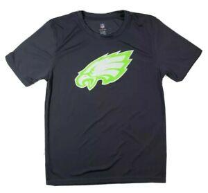 Boys NFL Philadelphia eagles polyester T Shirt Youth Large gray