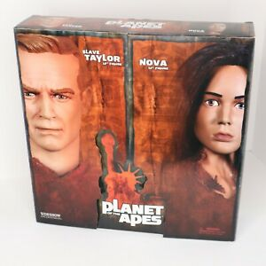 "SIDESHOW Collectibles Plant of the Apes Slave Taylor Nova 12"" Figure #7507 NIB"