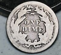 1876 CC Seated Liberty Dime 10c Ungraded Centennial Good US Silver Coin CC6505