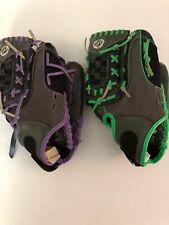 """2 Franklin Glove Purple Green Black Fastpitch Pro 22650 11"""" Fielding RHT"""