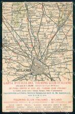 Milano Città Mappa del Touring Club Italiano cartolina RT5188