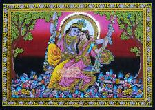 hindu gott RADHA KRISHNA SCHAUKEL wandbehang deko thangka goa Bollywood indien