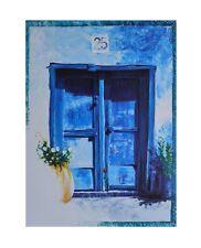 Hoffmann Blaues Fenster Poster Kunstdruck Bild 30x24cm