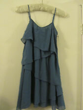 """H&M Blue - Green Vest Tiered Top in Size 4 / 6 - NWT - mislabelled - 31"""" chest"""