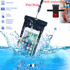 Underwater Waterproof Bag Dry Pouch Case Cover for iPhone 6s 7 Plus Galaxy S7 S8 Black