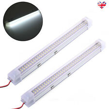 2 x 72 LED 12 VOLT Interior Light Strip Bar Car Van Bus Caravan ON/OFF Switch UK