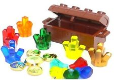 ☀️NEW Lego 6x Crystal Rock Treasure Chest with Gold Coins & Diamonds Jewels RARE