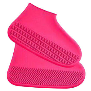 1 Pair Silicone Overshoes Rain Waterproof Shoe Covers Protector Size  M L