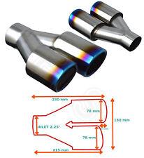 "4/"" Dia 2.25/"" Universal Stainless Exhaust Muffler Silencer Box 58mm 12/"" length"