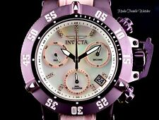 Invicta 42mm Subaqua Noma III Swiss Quartz Diamond Accented Burgundy-Pink Watch