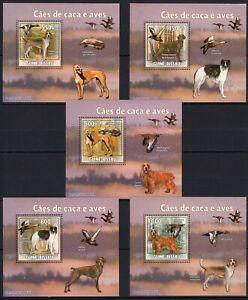 GUINE-BISSAU 2009 CAES DE CASA E AVES DOGS DOMEST ANIMALS PETS BIRDS STAMP MNH**