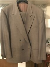 Armani Collezioni   Suit  Charcoal Grey   100% Virgin Wool 46L Double Breasted