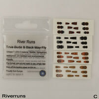 Riverruns Realistic Flies 24pcs/Bag May Nymph Flies Bud Back 4 Color 3 Size Fly