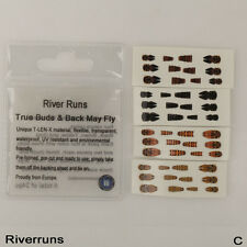 Riverruns Realistic Flies 24pcs/Bag May Nymph Flies Bud Back 4 Color 3 Size Fly