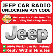 JEEP RADIO PIN CODE UNLOCK DECODE WRANGLER GRAND CHEROKEE COMPASS RENEGADE FAST