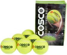 Cosco Light Weight Cricket Tennis Ball, Pack of 6 (Yellow)