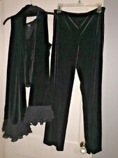 Woman's Worth Black Velvet Outfit With Scarf Size 6 Sexy Retail $300!