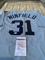 Dave Winfield Autographed/Signed Jersey JSA COA New York Yankees