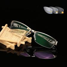 Мужские фотохромные Половинчатая оправа очков очки для чтения на открытом воздухе читателей +1.0 ~ +4.0 УФ I866