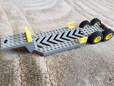 Lego Dark Grey Trailer Base 8 x 30 x 3 1/3 30620 - Big Rig- 4609 with wheels