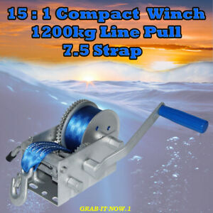 15 : 1 Hand Boat Winch - Suits Boat Up To 7.5m In Length