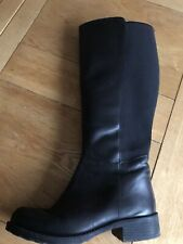 Pavers Leather Wider Leg Boots With Stretch 8/41