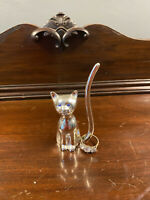 Vintage Silver Plated Birth Stone Cat Ring Holder