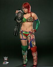 "WWE PHOTO ASUKA WITH NXT WOMENS TITLE BELT OFFICIAL WRESTLING 8x10"" PROMO"