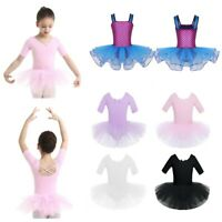 Kids Girls Mermaid Sleeveless Dress Ballet Gymnastics Dance Tulle Skirts Costume