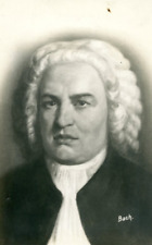 Johann Sebastian Bach Vintage carte photo, Johann Sebastian Bach (31 Mars  1685-