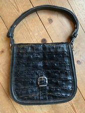Schultertasche Hornbag Handtasche Krokotasche art deco schwarz 40er vintage