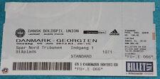 Ticket for collectors Denmark Georgia 2013 Aalborg