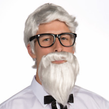 Colonel Sanders White Wig And Beard KFC Kentucky Fried Chicken Costume Adult