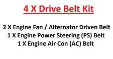 Fits Nissan Patrol Y60 2.8TD-RD28 Engine Fan/Alternator+PS+AC Drive Belts 1988+