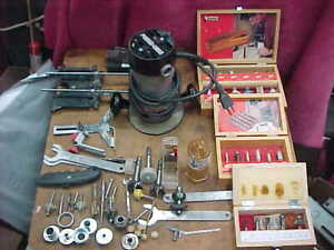 Porter Cable 6902 Router HD Motor Type 5 1001 Base Bits Wrenches Estate Find