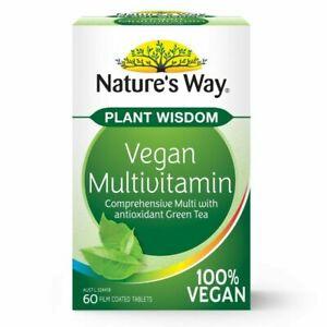Vegan Multivitamin with Green Tea 60 Tabs NEW Fast Shipping
