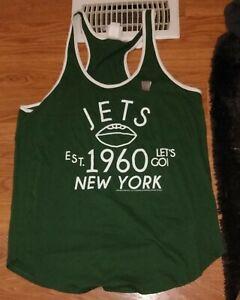 JUNK FOOD NEW NWT GREEN NFL NEW YORK JETS GREEN RETRO LOOKING TANK TOP SZ XL