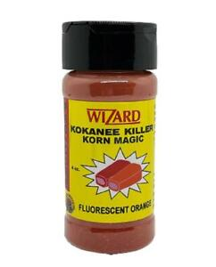 Pro-Cure Wizard Kokanee Killer Corn Korn Magic Fluorescent Orange 4 oz Bottle