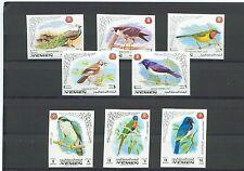 Königreich Jemen MiNr 763B-770B Internationales Tierschutzjahr I -Papagei-