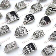 New 15pcs Wholesale jewelry lots Enamel Rhinestones Men mix Rings free shipping