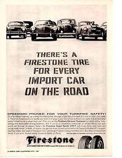 1960 PORSCHE / MGA / MERCEDES-BENZ / KARMANN-GHIA ~ ORIGINAL FIRESTONE PRINT AD