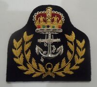 Royal Navy Warrant Officers Cap Badge, RN, Hat, Military, Embroidered, Army